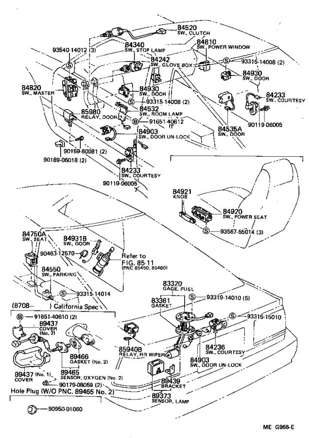 Toyota Supra Breaker Assembly  Wiring Circuit  No  1