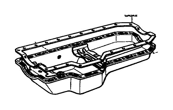 Toyota Celica Gasket  Oil Pan  Engine